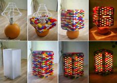 DIY Idea: Lego Lamp (the boys would love making a lamp out of LEGOS! Diy And Crafts Sewing, Crafts To Sell, Fun Crafts, Legos, Deco Lego, Casa Pop, Luminaria Diy, Lego Craft, Diy Home