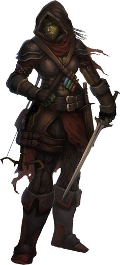 pathfinder half orc half elf