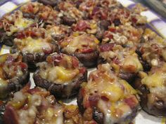 I Hope You're Hungry: Bacon and Cheese Stuffed Mushrooms