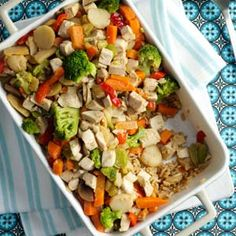 Chicken Stir-Fry Bake Recipe from Taste of Home -- shared by Carly Carter of Nashville, Tennessee  #Quick_Dinner