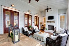 Old Landing Home in Daniel Island, SC by JacksonBuilt Custom Homes- outdoor fireplace