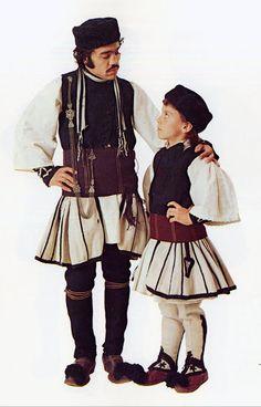 FolkCostume&Embroidery: Costume of the Sarakatsani or Karakachani, Greece Costume Shop, Folk Costume, Greece Costume, Ancient Greek Costumes, Dress Attire, Ethnic Outfits, We Are The World, Gentleman Style, Dance Costumes