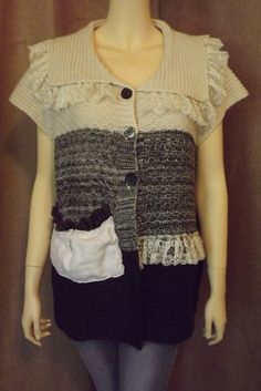Upcycled Lagenlook Sweater Tunic with от bluemermaiddesigns, $49.00
