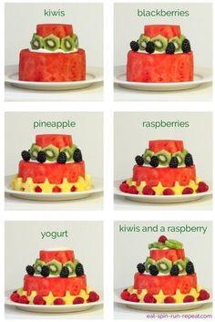 Gâteau d'anniversaire melon d'eau | Bébé mange seul