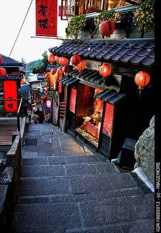 Architecture of Chinese style in Jiu Fen, Rui Fang, Taipei County, Taiwan