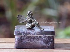 Lilly - The Iron Fairies My Little Fairy Garden My Fairy Garden, Fairy Gardens, Garden Sculptures, Flower Fairies, Decorative Boxes, Iron, Home Decor, Faeries, Decoration Home