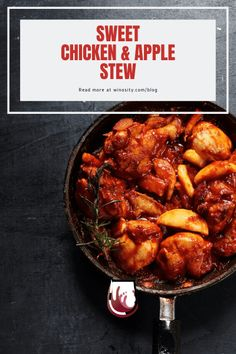 This delicious chicken stew is perfect for your lunch and family dinner. A game-changer when making a perfect stew recipe that is family-friendly and that the kids will love. The apple-based flavor creates a fresh and crisp note to a regular stew, elevating it to a new level. A sweet and juicy chicken recipe that has a well-balanced tartness, which can be easily paired with white wines. #quarantinelife #foodie #simplechickenrecipe #easydinnerrecipes #foodandwinepairing #mealideasforfamily Lunch Recipes, Easy Dinner Recipes, Wine Recipes, Dinner Ideas, Healthy Recipes, Potluck Dinner, Wine Dinner, Stew Chicken Recipe, Chicken Recipes