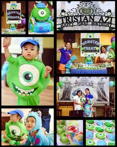 photoplay of Tristan Azi's monsters university themed first birthday party.