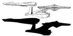 star trek enterprise silhouette - Google Search