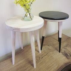 Check out this item in my Etsy shop https://www.etsy.com/listing/226663789/round-side-table-stool-table-coffee