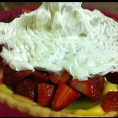 My custard fruity pie! :)