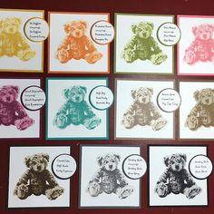 New Baby Bear 3-step stamp set colors. #inkingidaho  #deafstamper #stampinup