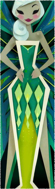 Spirit Print Absinthe by britsketch on Etsy, $25.00