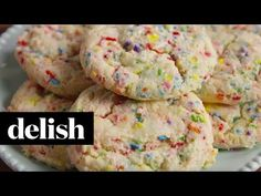 Best Birthday Cake Cookies Recipe - How To Make Birthday Cake Cookies - Delish.com