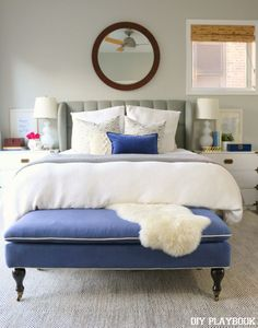 Check out the before & after of this bedroom space. You won't even recognize it! Love the simple style & design.