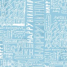 happy birthday hand lettering Patterns : MIKE LOWERY // illustration