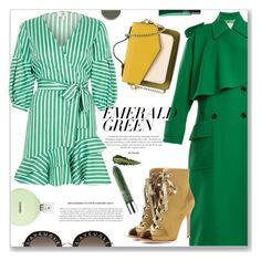 """Untitled #61"" by nadlom on Polyvore featuring River Island, Valentino, Gianvito Rossi, Gucci, Chanel, Clinique, Chantecaille, Hermès and emeraldgreen"