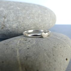 Tiny Sterling Silver Heart Ring. This would make a beautiful promise ring.