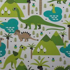 Papel de parede infantil animais dinossauros 004