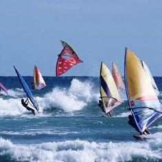 Old skool windsurfing