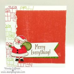 Stamping Rules!: Day 290: Merry Everything Santa Holiday Card