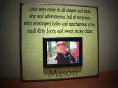 I love this quote for Levi's first year book.