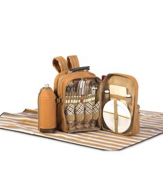 Take a look at this Four-Person Tremont Picnic Backpack Set today!