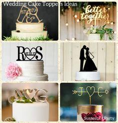 Ideas de Toppers para Tortas de Boda!... utiliza mensajes, siluetas o monogranas para dar un toque especial! .. #ideas #wedding #caketopper #weddingcake #tortadeboda #boda #cake #tarta #pastel #bride #novia #susanitasparty #talentovenezolano  mas en www.facebook.com/SusanitasParty ó instagram @ susanitasparty
