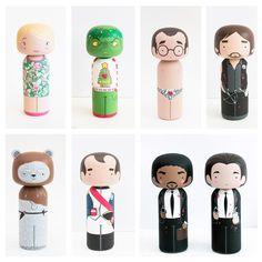 Kokeshi Dolls - Sketchinc