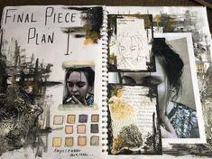 New Ideas For Gcse Art Sketchbook Messages - A Level Art Sketchbook - A Level Art Sketchbook, Sketchbook Layout, Textiles Sketchbook, Arte Sketchbook, Sketchbook Ideas, Sketchbook Pages, Fashion Sketchbook, Art And Illustration, Kunstjournal Inspiration