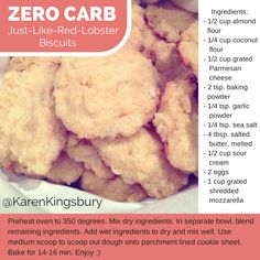 I may write fiction but even I couldn't imagine a no-carb biscuit!! This delicious recipe makes 12 biscuits :) www.karenkingsbury.com