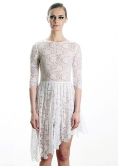 Assymetrical lace dress, spring / summer 2013  89€ Lace Skirt, Lace Dress, Fashion Project, Daughter, Spring Summer, Skirts, Collection, Dresses, Design