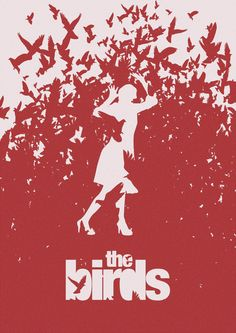 The Birds - Alfred Hitchcock. When I teach this story to my grade English class their creative project could be to make an alternate movie poster for the film! Best Movie Posters, Minimal Movie Posters, Movie Poster Art, Poster S, Poster Design Movie, Poster Designs, Cool Posters, Horror Movie Posters, Cinema Posters