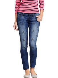 Womens The Rockstar Star Skinny Jeans
