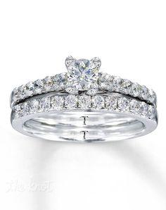 Diamond Bridal Set 7/8 ct tw Round-cut 14K White Gold-990743400