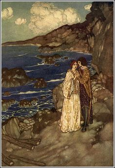 Edmund Dulac illustration from The Tempest