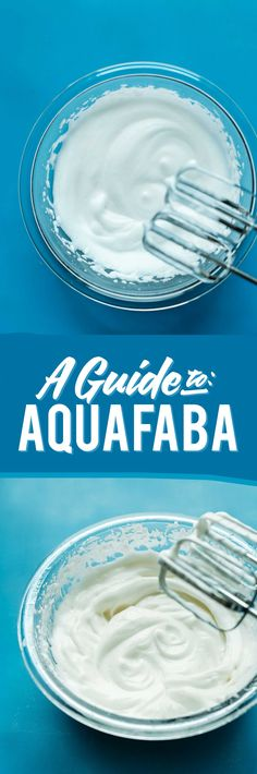 Minimalist baker-- a guide to aquafaba-- will need a hand mixer