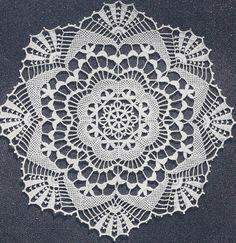 Crochet Lace Patterns | Vintage Crochet Pattern Cluny Lace Doily Centerpiece | eBay