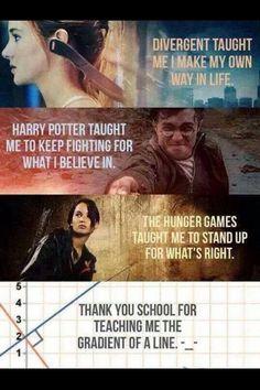 Zie je, je leert meer van films en boeken dan van school