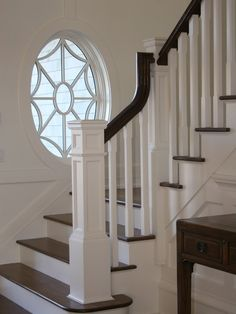 Create architectural interest with your staircase by adding a chunky newel post at the foot of the stairs