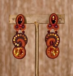 Sinfully yours...Dori's Caramel earrings...Now also available at NKO jewelry, Costa Rica #doricsengeri #caramel #designerearrings #designerjewelry #luxuryshopping #costaricashopping #luxurybrand