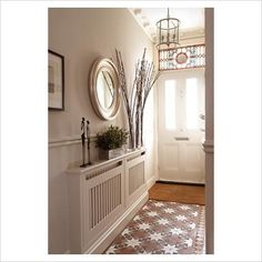 Gap interiors - specialising in interiors, lifestyle & homes terraced house, victorian decor, Small Upstairs Hallway, Small Hallways, Colours For Hallways, Hallway Colour Schemes, Victorian Hallway, Victorian Tiles, Victorian Decor, Victorian Lighting, Modern Victorian