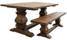 Custom Reclaimed Wood Trestle Dining Room Tables Handmade from Salvaged Wood Recycled from Luxury Homes in Los Angeles
