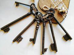 Lotto 7 chiavi antiche in ferro battuto - old iron keys - chiave antica
