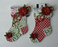 Christmas Stocking Gift Card Holders - Scrapbook.com