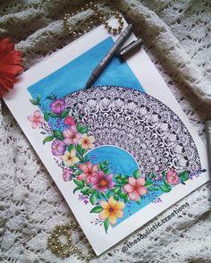 Mandala Art Lesson, Mandala Drawing, Pencil Art Drawings, Art Drawings Sketches, Mandela Art, Zentangle Drawings, Flower Canvas, Zen Art, Flower Mandala