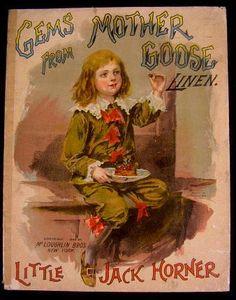 Mother GOOSE Little Jack Horner 1899 McLoughlin Antique Children's Illustrated | eBay