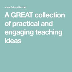 A GREAT collection of practical and engaging teaching ideas Spring Break, Teaching Ideas, School Ideas, Back To School, Tips, Collection, Winter Vacations, Entering School, Back To College