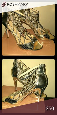 Sexy Summer Sandals Gorgeous metallic gold sandal worn only once, these will look great in any buyer Ivanka Trump Shoes Sandals