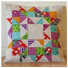 Funoldhag: The Swoon Quilt Block - I love the fabric in this, so bright.